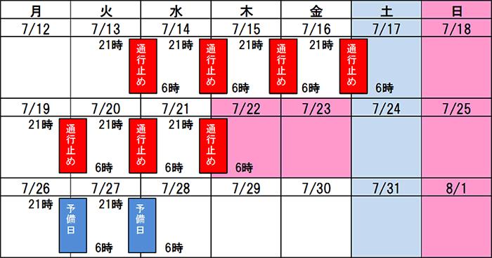 山陽自動車道 尾道JCT~E54 尾道自動車道 尾道北IC間で夜間通行止めを実施