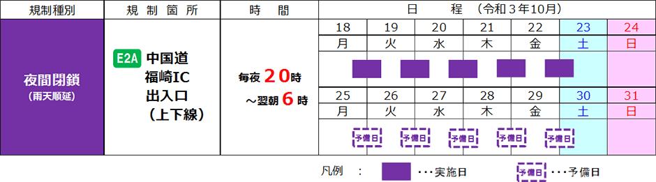 中国自動車道 福崎ICで夜間閉鎖を実施